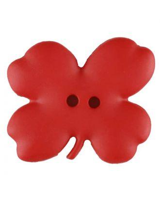 Cloverleaf, 2 holes - Size: 23mm - Color: red - Art.No. 310953