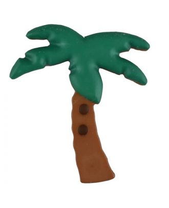 palm tree with 2 holes - Size: 25mm - Color: green - Art.No. 331083