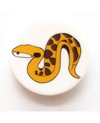 novelty button snake with shank - Size: 17mm - Color: white  - Art.No. 261277