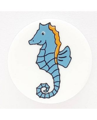 novelty button seahorse with shank - Size: 17mm - Color: white  - Art.No. 261279
