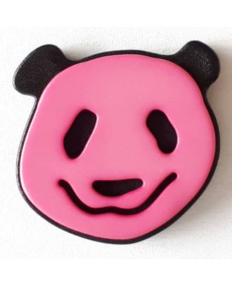 novelty button panda with shank - Size: 22mm - Color: pink - Art.No. 331113