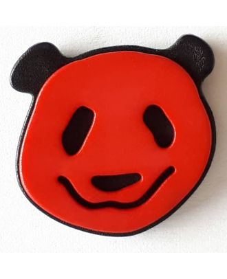 novelty button panda with shank - Size: 22mm - Color: red - Art.No. 331114