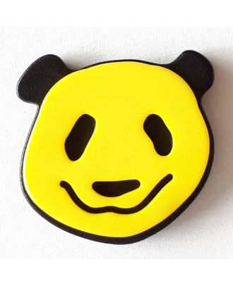 novelty button panda with shank - Size: 22mm - Color: yellow - Art.No. 331115