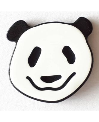 novelty button panda with shank - Size: 22mm - Color: white - Art.No. 331110