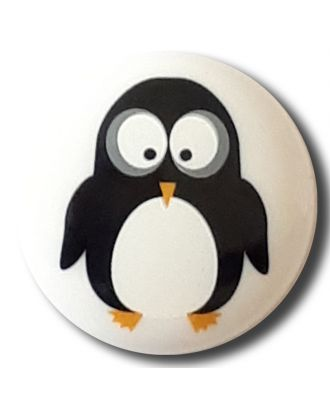 "novelity button "" penguin"" with shank - Size: 15mm - Color: white - Art.No. 261314"