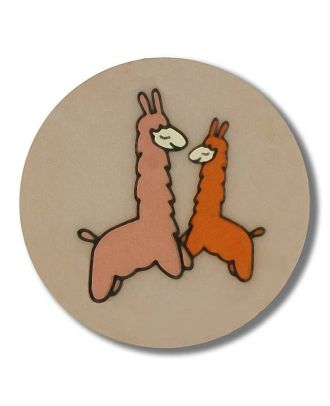 lama with shank - Size: 15mm - Color: beige - Art.No. 261331