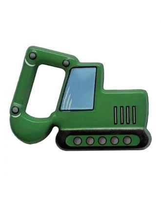 novelity button excavator with shank - Size: 28mm - Color: grün - Art.No. 341309