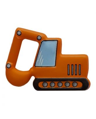 novelity button excavator with shank - Size: 28mm - Color: orange - Art.No. 341311