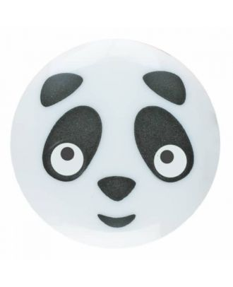children button panda with shank - Size: 18mm - Color: white - Art.No. 281160