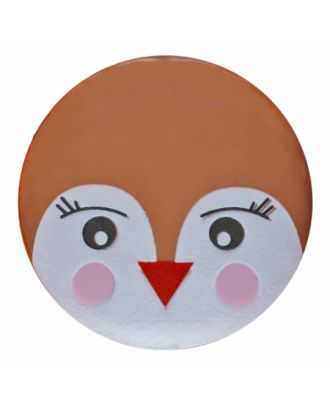 children button bird with shank - Size: 15mm - Color: brown - Art.No. 261349