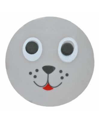 children button seal with shank - Size: 15mm - Color: grey - Art.No. 261350