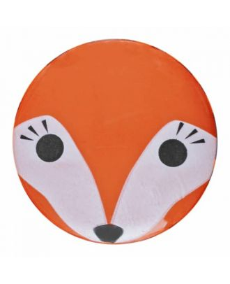 children button fox with shank - Size: 15mm - Color: orange - Art.No. 261351