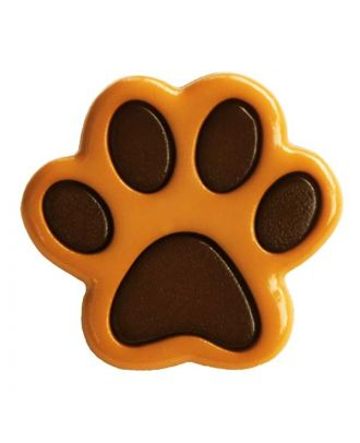 children button polyamide shape of a paw and shank - Size: 18mm - Color: braun - Art.No.: 281214