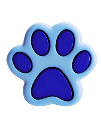children button polyamide shape of a paw and shank - Size: 18mm - Color: blau - Art.No.: 281215