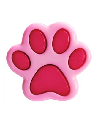 children button polyamide shape of a paw and shank - Size: 18mm - Color: pink - Art.No.: 281216