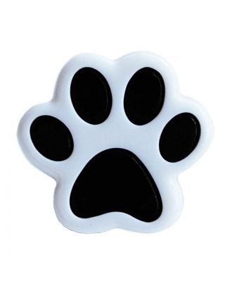 children button polyamide shape of a paw and shank - Size: 18mm - Color: weiß - Art.No.: 281213