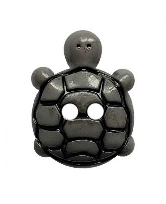 children button turtle polyamide with 2 holes - Size: 18mm - Color: grau - Art.No.: 311127