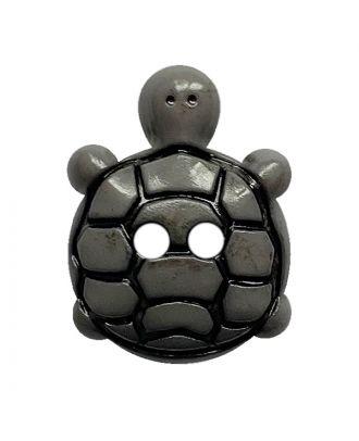 children button turtle polyamide with 2 holes - Size: 18mm - Color: grau - Art.No.: 311127