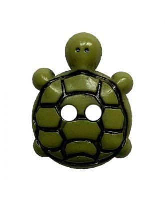 children button turtle polyamide with 2 holes - Size: 18mm - Color: grün - Art.No.: 311128