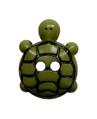 children button turtle polyamide with 2 holes - Size: 15mm - Color: grün - Art.No.: 281221