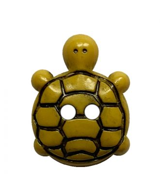 children button turtle polyamide with 2 holes - Size: 15mm - Color: gelb - Art.No.: 281222