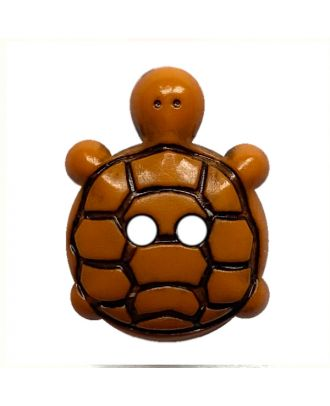 children button turtle polyamide with 2 holes - Size: 15mm - Color: orange - Art.No.: 281223