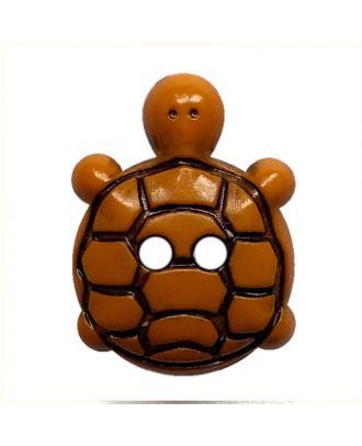 children button turtle polyamide with 2 holes - Size: 15mm - Color: orange - Art.No.: 281223