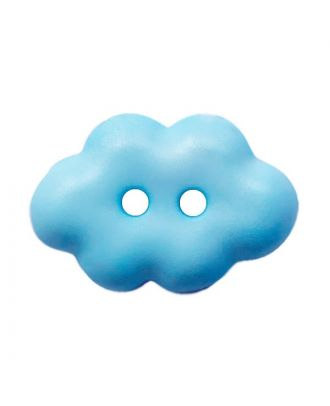 "children button ""cloud"" polyamide with 2 holes - Size: 15mm - Color: hellblau - Art.No.: 261457"