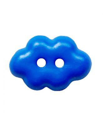 """children button """"cloud"""" polyamide with 2 holes - Size: 15mm - Color: blau - Art.No.: 261458"""