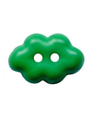 """children button """"cloud"""" polyamide with 2 holes - Size: 15mm - Color: grün - Art.No.: 261459"""