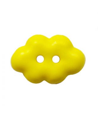"children button ""cloud"" polyamide with 2 holes - Size: 15mm - Color: gelb - Art.No.: 261461"