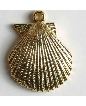 Mussel button - Size: 25mm - Color: gold - Art.No. 370044