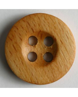 wood button - Size: 30mm - Color: brown - Art.No. 290161