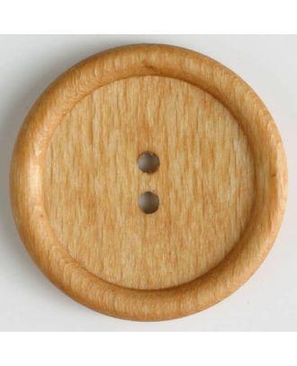wood button - Size: 45mm - Color: brown - Art.No. 470034