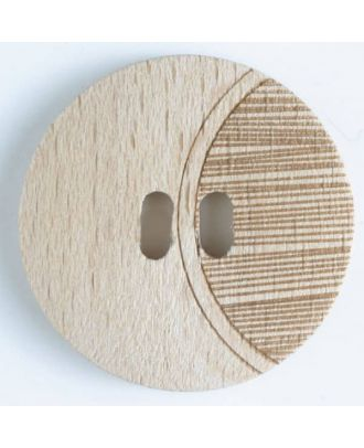 wood button   - Size: 28mm - Color: brown - Art.-Nr.: 330664