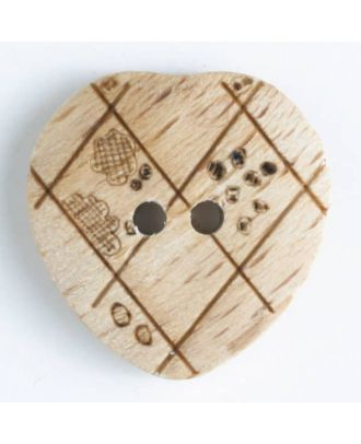 wood button   - Size: 20mm - Color: brown - Art.-Nr.: 251572