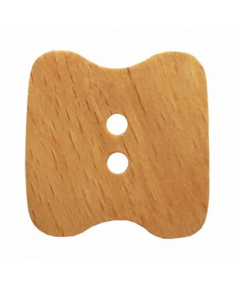 wood button with two holes  - Size: 28mm - Color: brown - Art.No. 331189