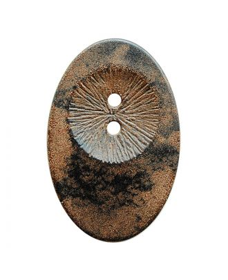 wood button oval-shaped with 2 holes - Size: 34mm - Color: braun - Art.No.: 400288