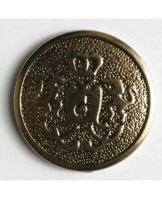 Blazer button, full metal - Size: 20mm - Color: antique gold - Art.No. 310004