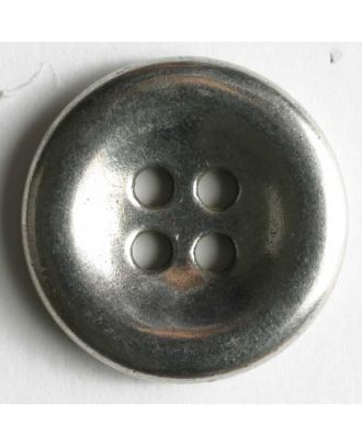 Jeans button, full metal - Size: 18mm - Color: antique silver - Art.No. 201025