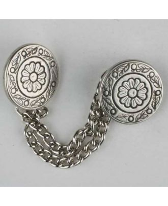 full metal button - Size: 18mm - Color: antique silver - Art.No. 360071