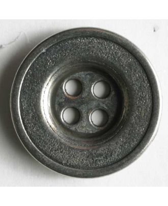 Full metal button - Size: 12mm - Color: antique silver - Art.No. 181008