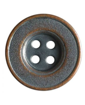 Full metal button - Size: 20mm - Color: copper - Art.No. 221032