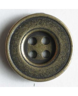 Full metal button - Size: 18mm - Color: antique brass - Art.No. 201234