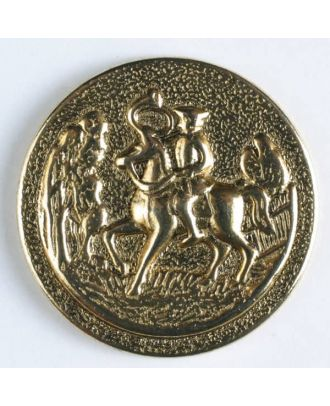 full metal button    - Size: 18mm - Color: antique gold - Art.-Nr.: 260432