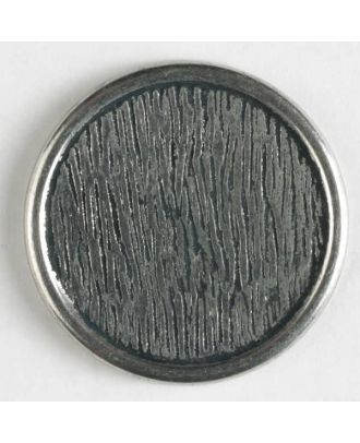 full metal button    - Size: 18mm - Color: antique silver - Art.-Nr.: 220693