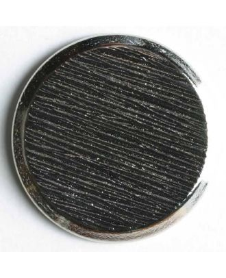Blazer button, full metal - Size: 20mm - Color: silver - Art.No. 230474