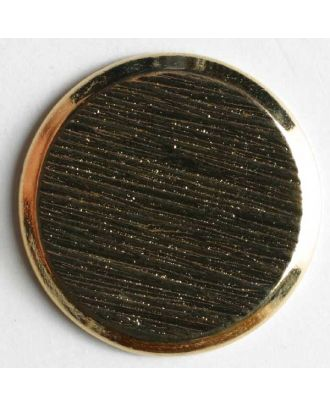 Blazer button, full metal - Size: 23mm - Color: gold - Art.No. 270216