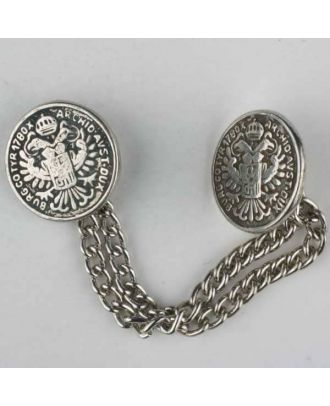full metal button - Size: 22mm - Color: antique silver - Art.No. 410001