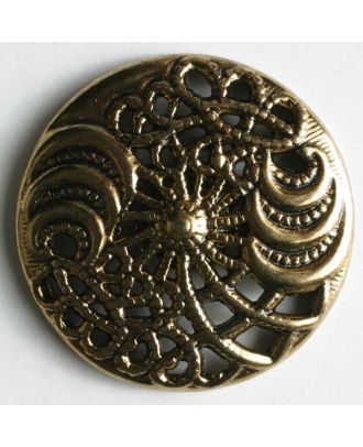 Full metal button - Size: 25mm - Color: antique gold - Art.No. 360082